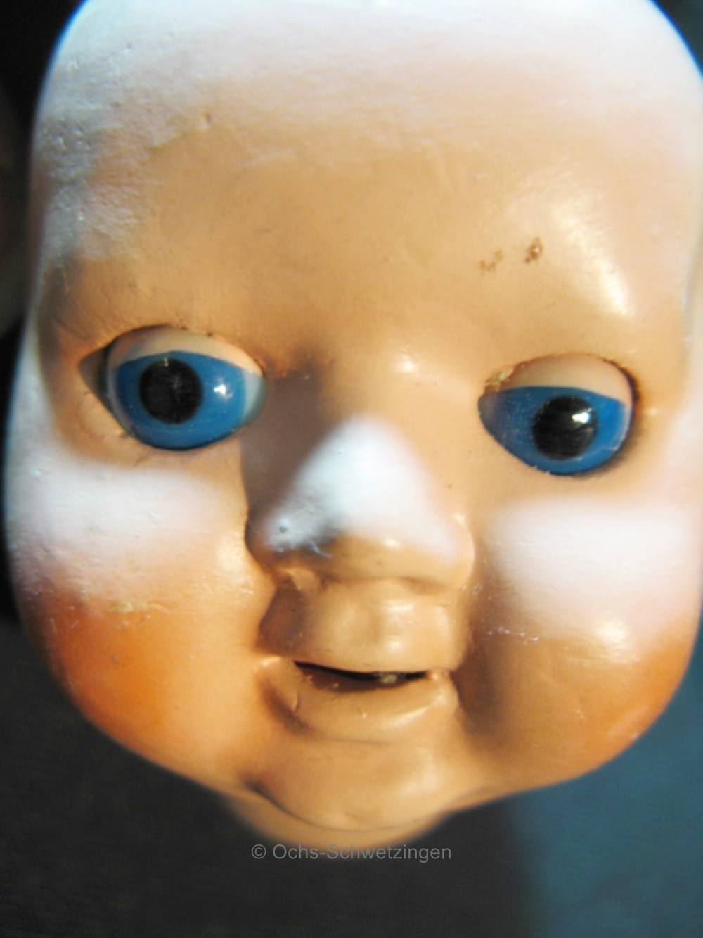Puppenkopf-Masse-mit-Schlafaugen-ALT-fuer-Puppenklinik