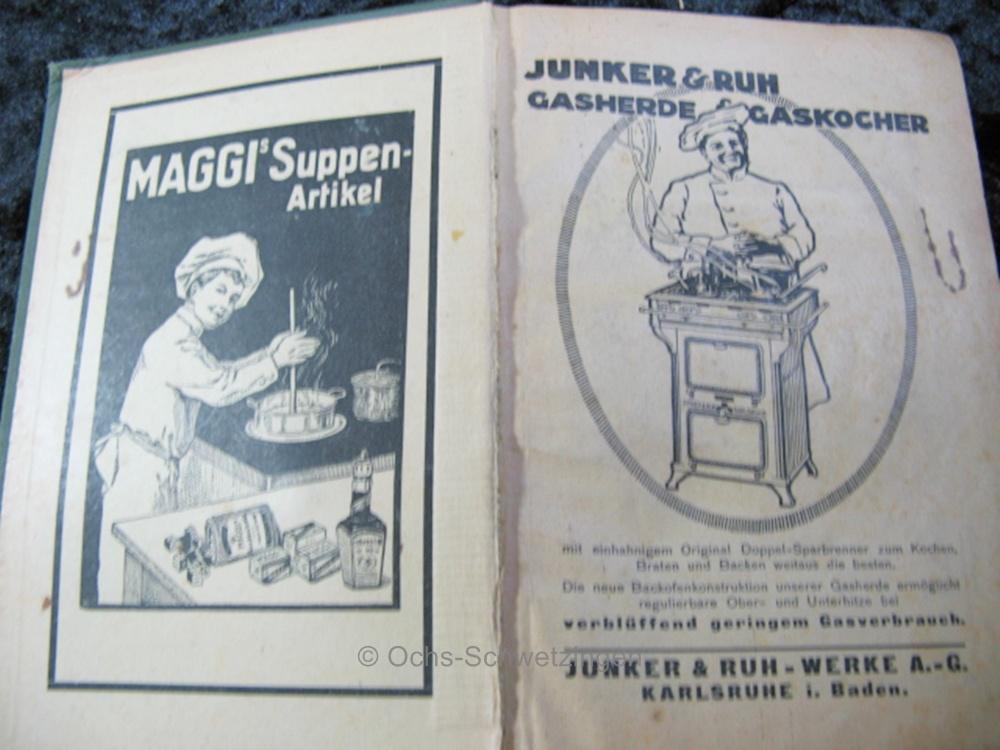 kochbuch der haushalts und kochschule des badischen frauenvereins von 1924 b16 ebay. Black Bedroom Furniture Sets. Home Design Ideas