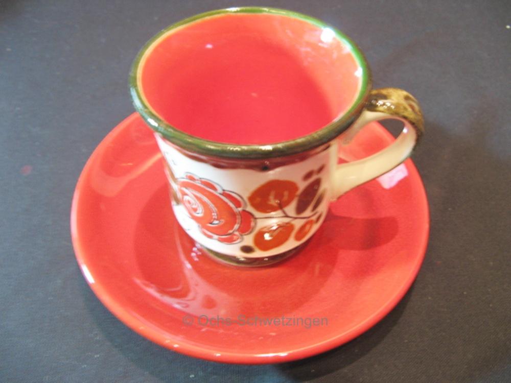 Untertasse guter Zustand Schramberg Dekor Wien Kaffeetasse